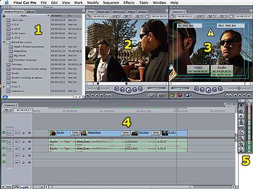 Final cut pros interface there are 6 main windows which you will be using for most editing tasks in fcp ccuart Gallery